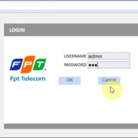 Hướng dẫn đăng nhập địa chỉ modem Wifi FPT đường link 192.168.1.1
